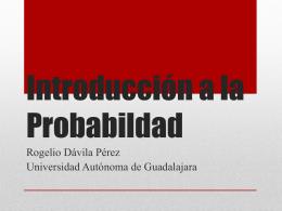 probabilidad - Página oficial del Doctor Rogelio Davila Pérez