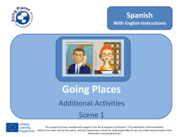 Activity 1.4 - Going Places with Languages