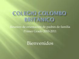 Colegio colombo británico - firstgradeccb2010-11