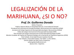 ¿SE DEBE LEGALIZAR LA MARIHUANA?