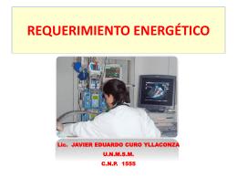 CLASE 3. Requerimiento energético