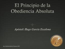 El principio de la Obediencia