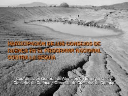 Participación de los Consejos de Cuenca en el