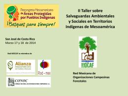 II Taller sobre Salvaguardas Ambientales y Sociales en Territorios