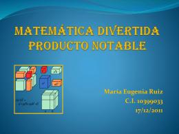 Matemática Divertida Producto Notable