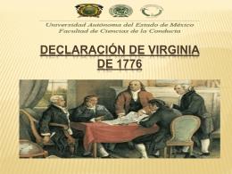 6. Declaración de Virginia de 1776