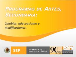 1. Cambios, adecuaciones y modificaciones en asignatura de Artes