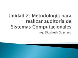 Metodología para realizar auditoría de Sistemas Computacionales
