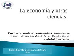 La economía y otras ciencias.