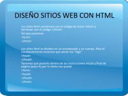 DISEÑO SITIOS WEB CON HTML.