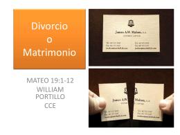 Mateo 19-a - Comunidad Cristiana Emanuel