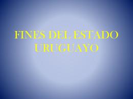 FINES DEL ESTADO URUGUAYO ppt