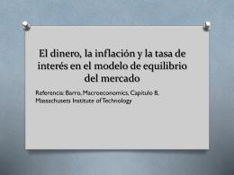 El dinero, la inflación y la tasa de interés en el modelo de equilibrio