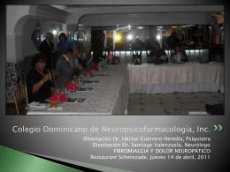Diapositiva 1 - Colegio Dominicano de Neuropsicofarmacología