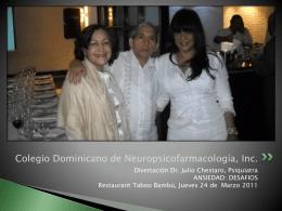 Ver fotos - Colegio Dominicano de Neuropsicofarmacología