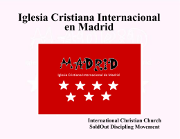 homosexuales - Madrid International Christian Church