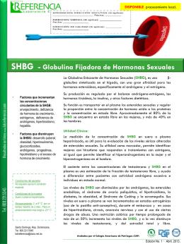 Globulina Fijadora de Hormonas Sexuales (SHBG) La