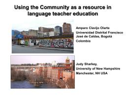 Community-based pedagogies - Amparo Clavijo Olarte, Ph.D