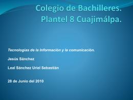 Colegio de Bachilleres. Plantel 8 Cuajimálpa.