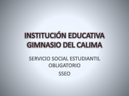 INSTITUCIÓN EDUCATIVA GIMNASIO DEL CALIMA