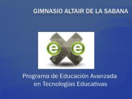 Diapositiva 1 - Gimnasio Altair de la Sabana