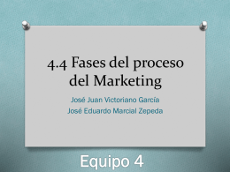 4.4 Fases del proceso del Marketing