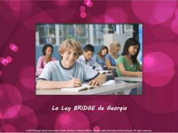 ¿Que es la Ley BRIDGE? - Georgia Career Information Center