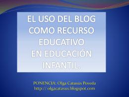 EL RECURSO DEL blog aula EN EI (PONENCIA)