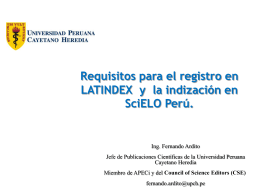 Requisitos LATINDEX e indización en SciELO