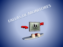 fallas de monitores