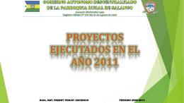 proyectos ejecutados 2011 2012 - Bienvenidos a la Parroquia de
