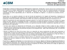 CV Freddy Pérez