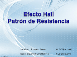 Efecto Hall presentación