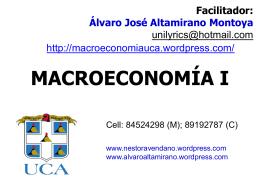 Presentación de PowerPoint - Macroeconomía I