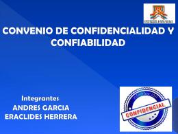 convenio de confidencialidad y confiabilidad