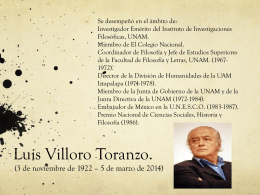 Luis Villoro Presentación