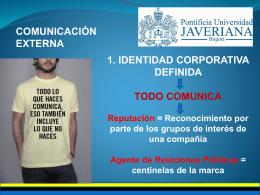 COMUNICACIÓN EXTERNA - RelacionesPublicas