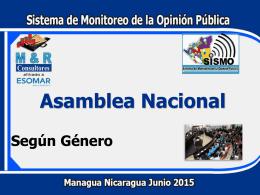 Según Género - Asamblea Nacional de Nicaragua