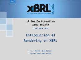 1ª Sesión Formativa XBRL España
