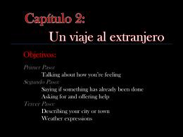 Cap. 2 Vocabulario - Primer Paso - Sra. Fette