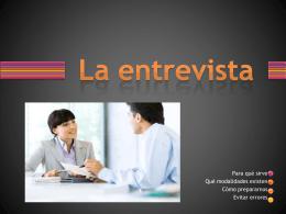 La entrevista - Punto de Orientación Laboral (POL)
