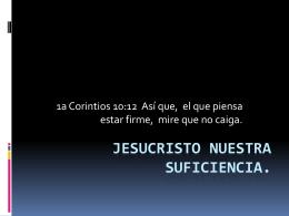 JESUCRISTO LA SUFICIENCIA DEL PADRE.