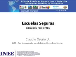 Escuelas Seguras Ciudades Resilientes