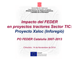 Proyecto Xaloc (Inforegió)