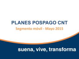 Presentación Planes PosPago CNT