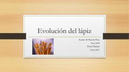 Evolución del lápiz - Portafolio teed 4018