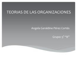 TEORIAS DE LAS ORGANIZACIONES