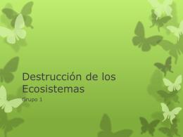 Destrucción de los Ecosistemas