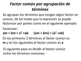 algebra 19 agrupacion de terminos