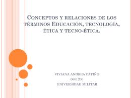 Conceptos y relaciones de los términos Educación